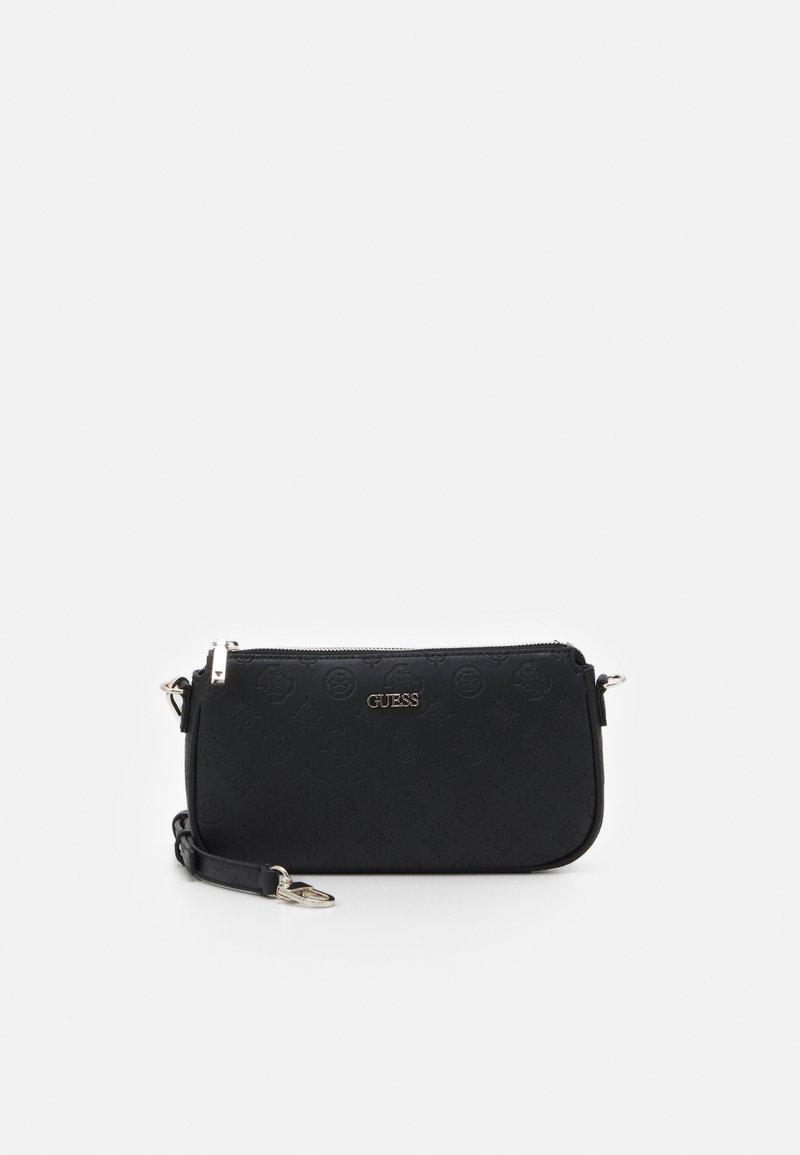 Guess - DAYANE DOUBLE POUCH CROSSBODY SET - Handbag - black