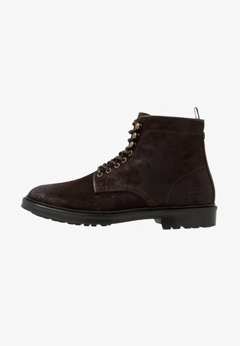 SEABURN - Lace-up ankle boots - choco
