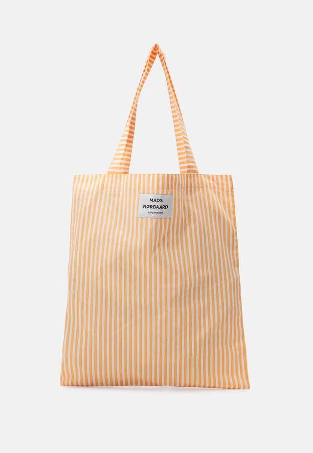 SACKY ATOMA - Shoppingveske - tangerine/off white