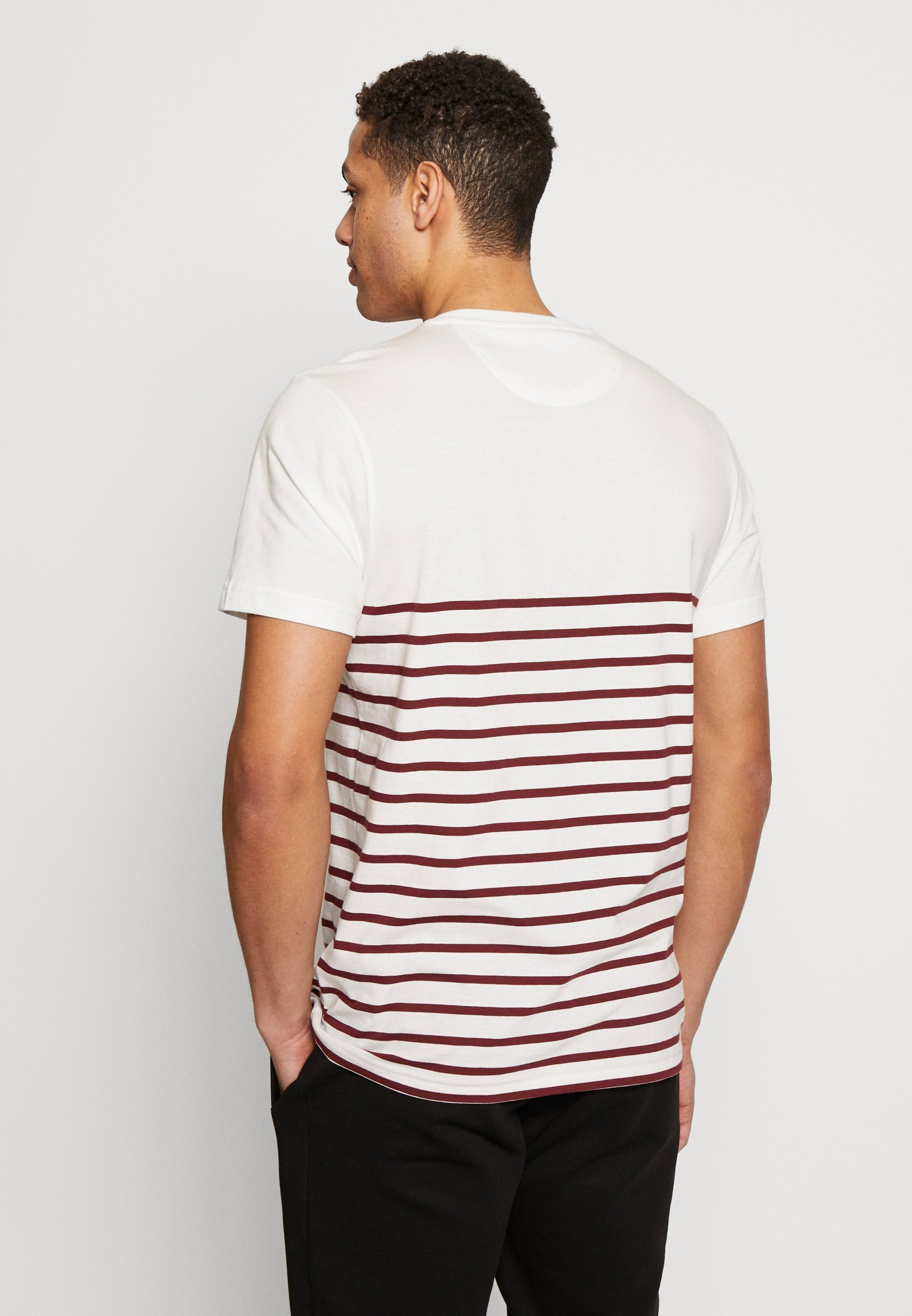Farah COOK STRIPED TEE - Print T-shirt - dark red E14z0