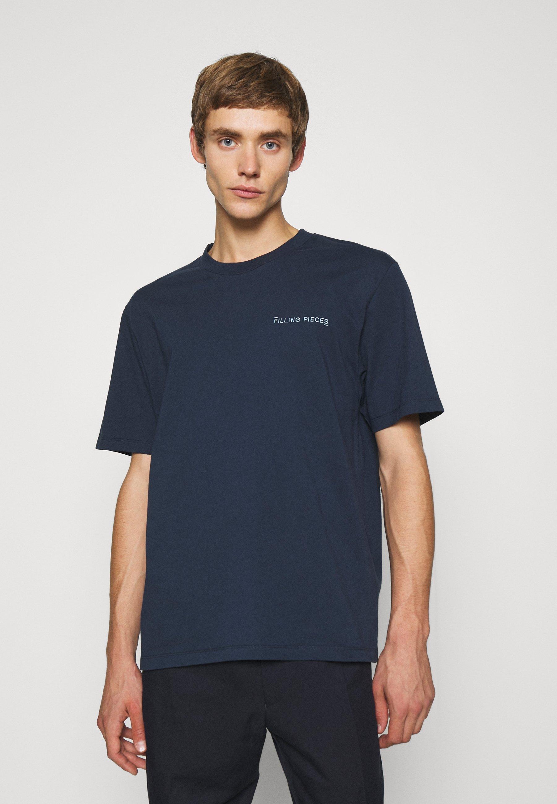 Herrer CORE TEE NAVY UNISEX - T-shirts basic