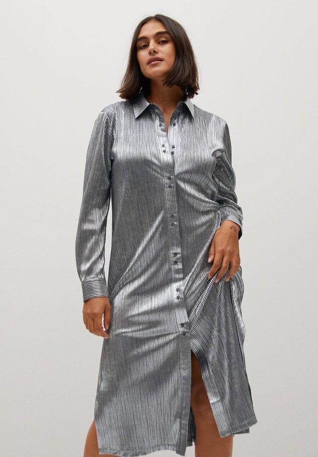 PLATINUM-I - Skjortekjole - silber