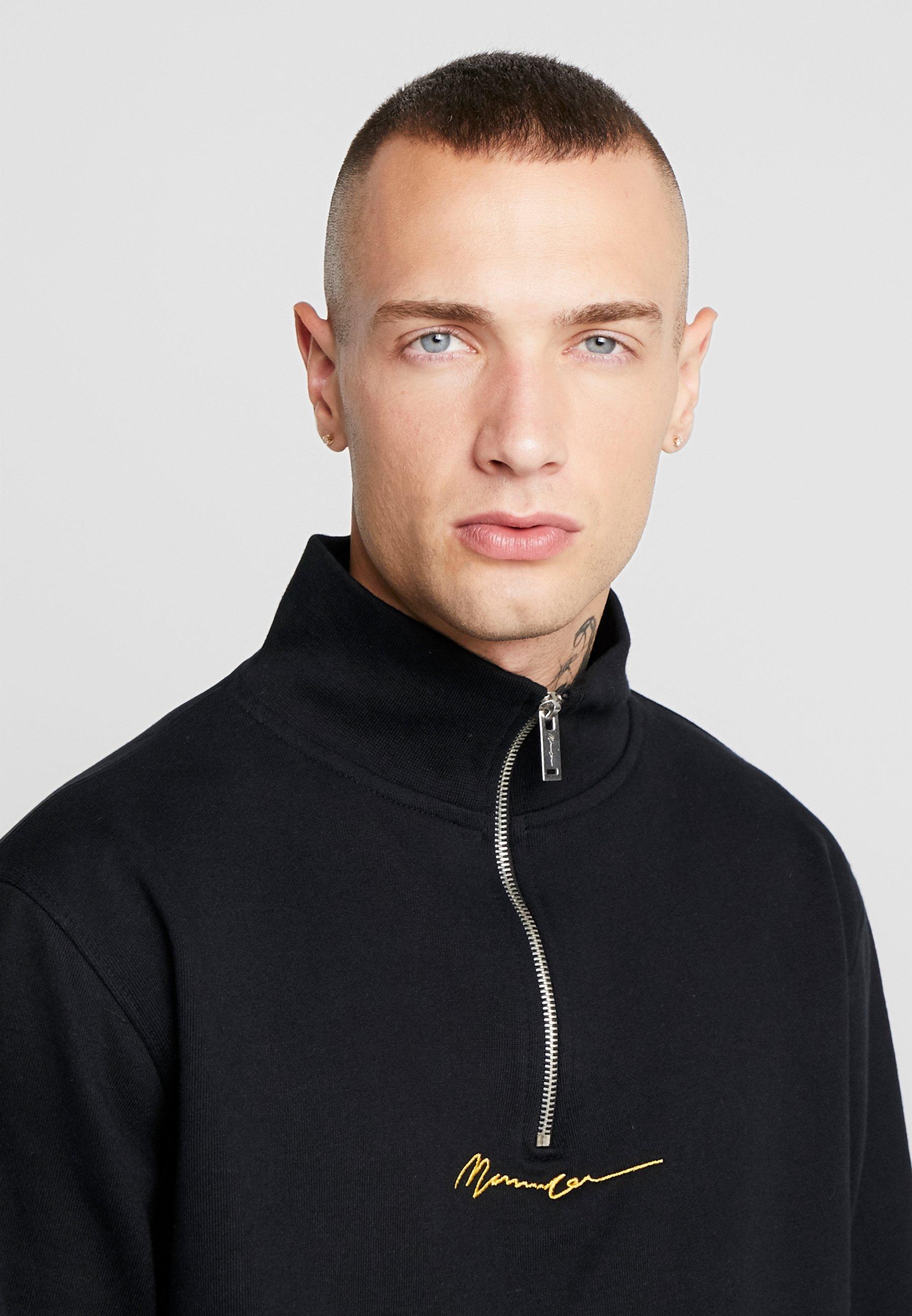 Mennace Essential Zip - Sweatshirt Black/svart