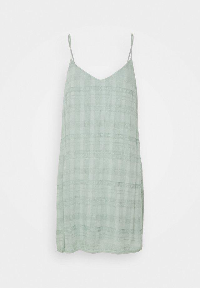SOLID SLIP DRESS - Korte jurk - teal