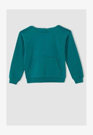 REGULAR FIT  - Hoodie - turquoise