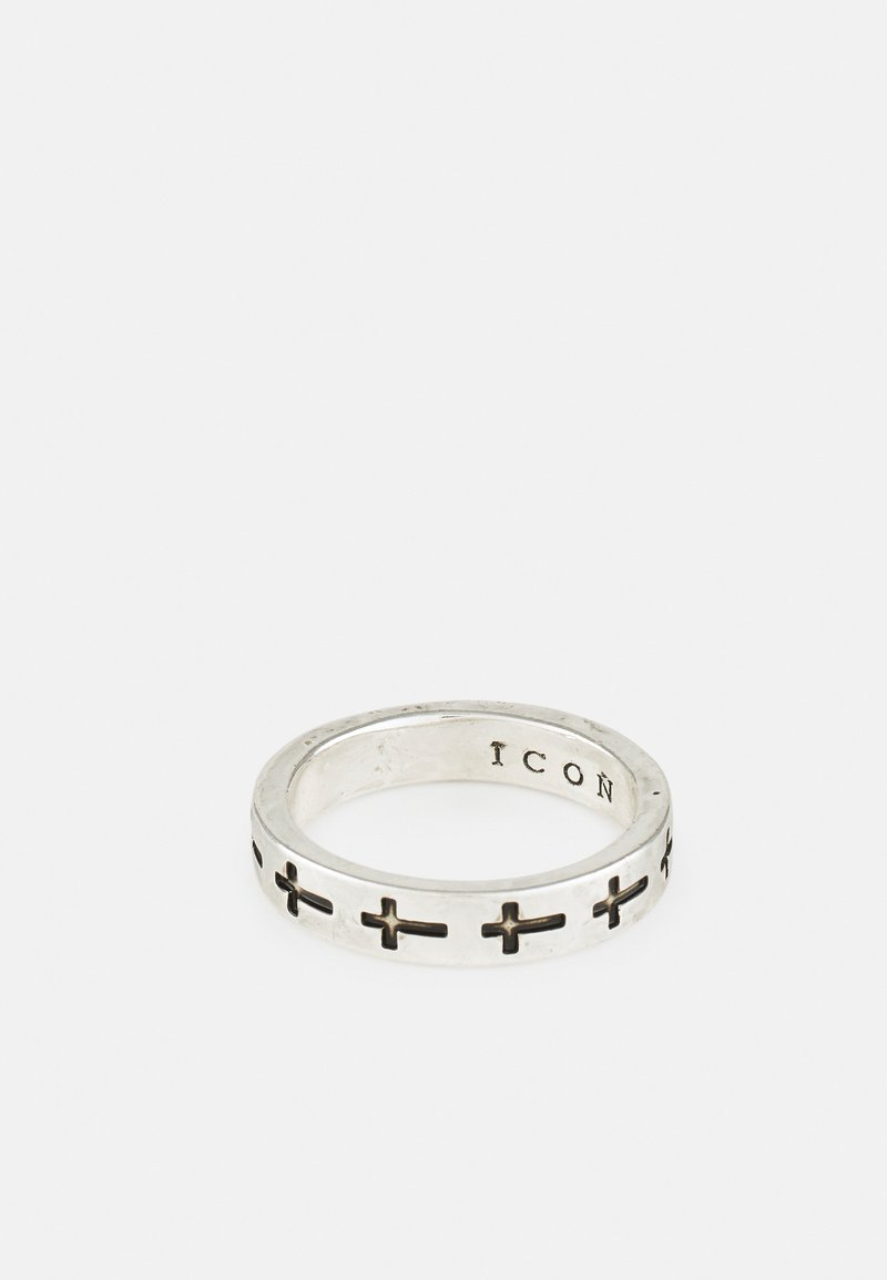 Icon Brand - CROSS BAND - Ring - silver-coloured