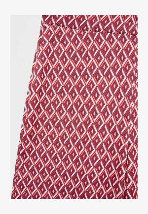 MIT GEOMETRISCHEM PRINT - Kalhoty - red