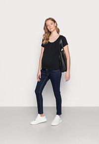 Cotton On - MATERNITY HENLEY SHORT SLEEVE - T-shirt basic - black - 1