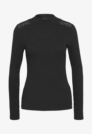 SHOULDER DETAIL TOP - Long sleeved top - black
