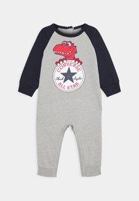 Converse - CHUCK PATCH COVERALL - Tuta jumpsuit - dark grey heather - 0