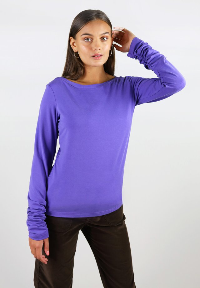 Topper langermet - purple
