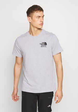 MENS GRAPHIC TEE - Print T-shirt - light grey heather