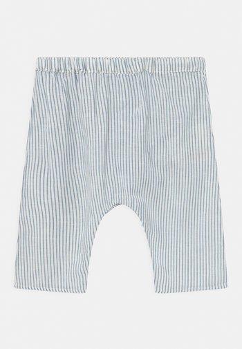 UNISEX - Trousers - white/blue