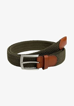 ELASTIC - Braided belt - kaki