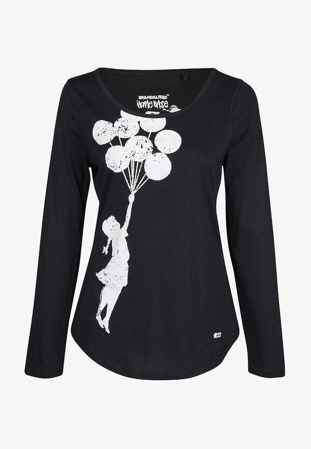BRANDALISED - T-shirt à manches longues - black