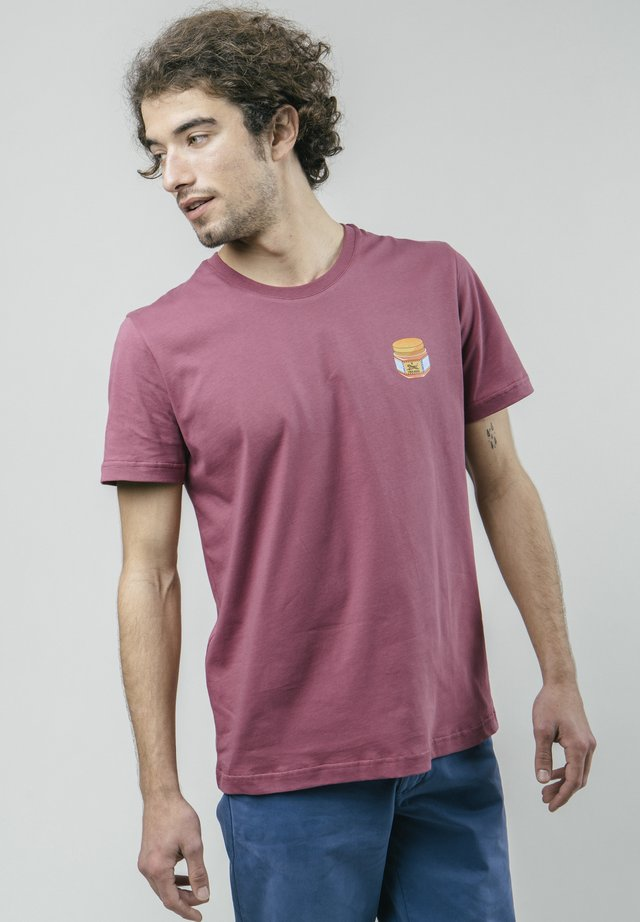 TIGER - T-shirt con stampa - purple