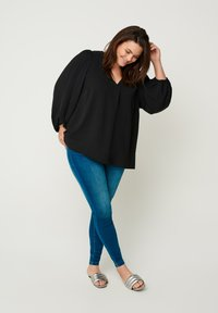 Zizzi - WITH PUFF SLEEVES - Blouse - black - 1