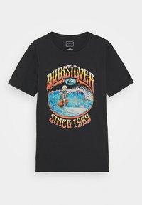 Quiksilver - LOST ALIBI YOUTH - T-shirts print - black - 0