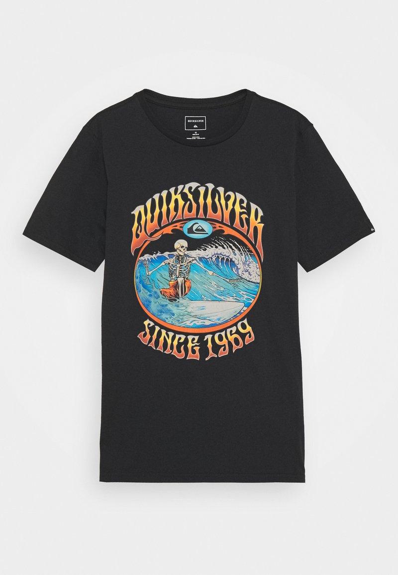 Quiksilver - LOST ALIBI YOUTH - T-shirts print - black