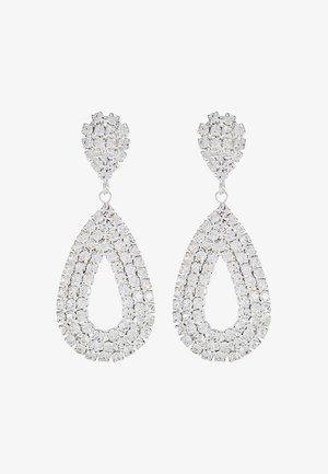 DROP EARRINGS - Earrings - silber/crystal