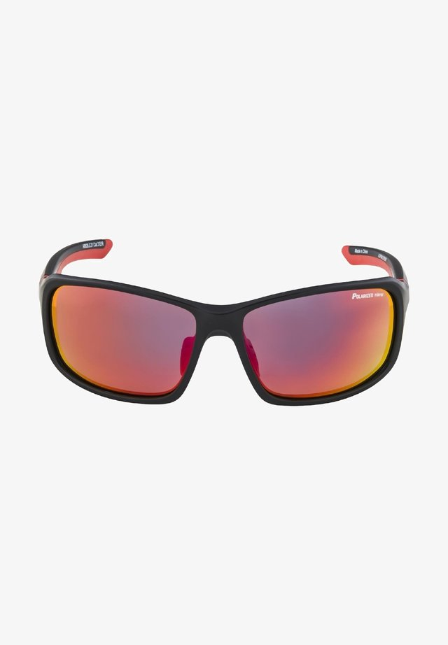 LYRON - Sports glasses - black matt-red (a8628.x.31)