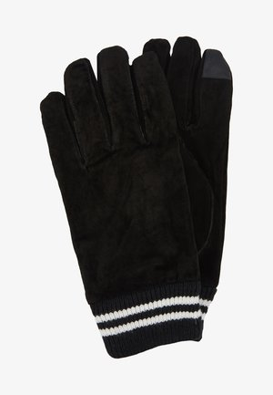 GLOVES STRIPE CUFF - Rukavice - black