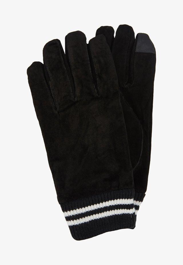 GLOVES STRIPE CUFF - Gloves - black