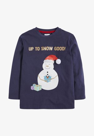 CHRISTMAS SNOWMAN  - Long sleeved top - dark blue