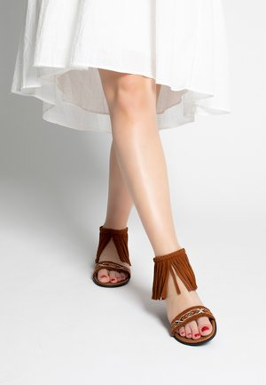 MOROCCO - Ankle cuff sandals - brown