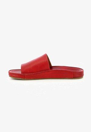 Pantolette flach - rouge