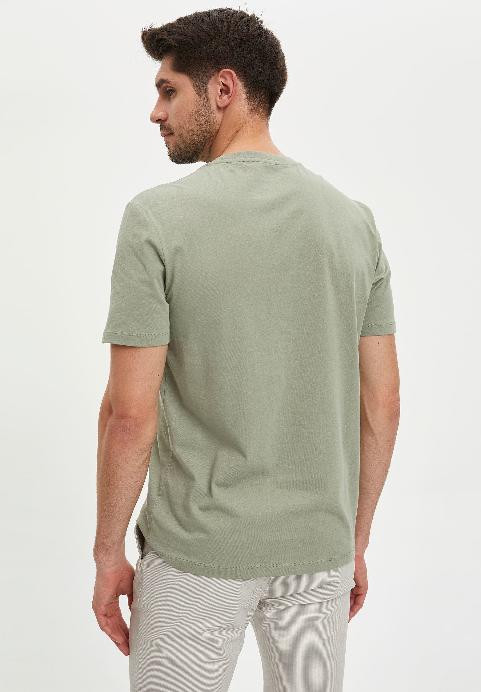 DeFacto Basic T-shirt - green 74g7Z