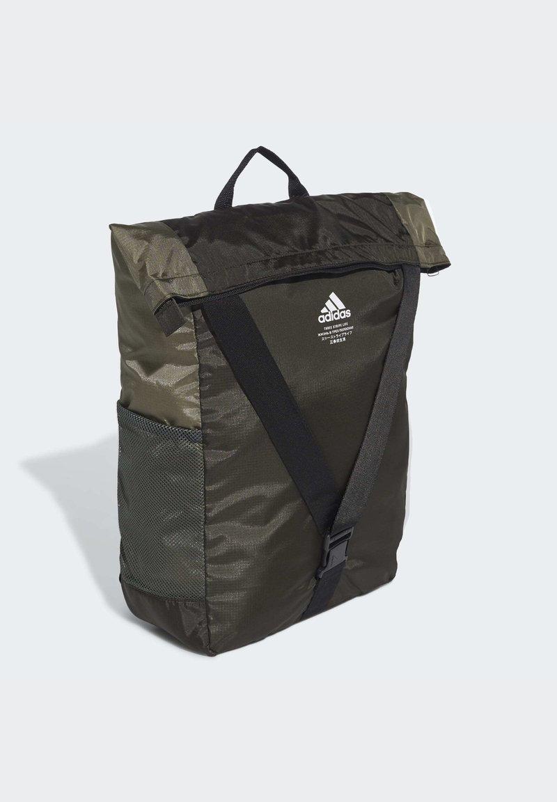 adidas Performance - CLASSIC FLAP TOP SHOPPER BACKPACK - Mochila - green