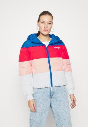 RAINBOW PUFFER - Winter jacket - blue
