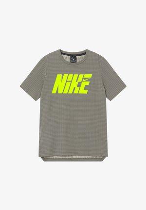 Print T-shirt - khaki/volt