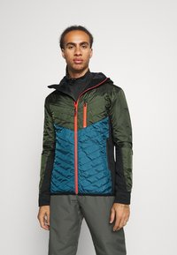 Mons Royale - ARETE INSULATION HOOD - Outdoor jacket - atlantic/rosin - 0