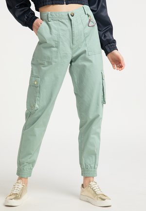 Cargo trousers - neo mint