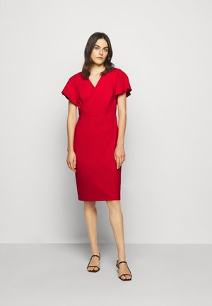 LUXE TECH DRESS - Day dress - orient red