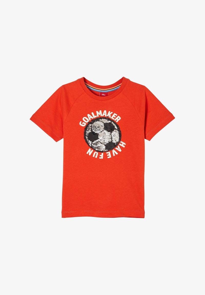 s.Oliver - T-shirt con stampa - dark orange