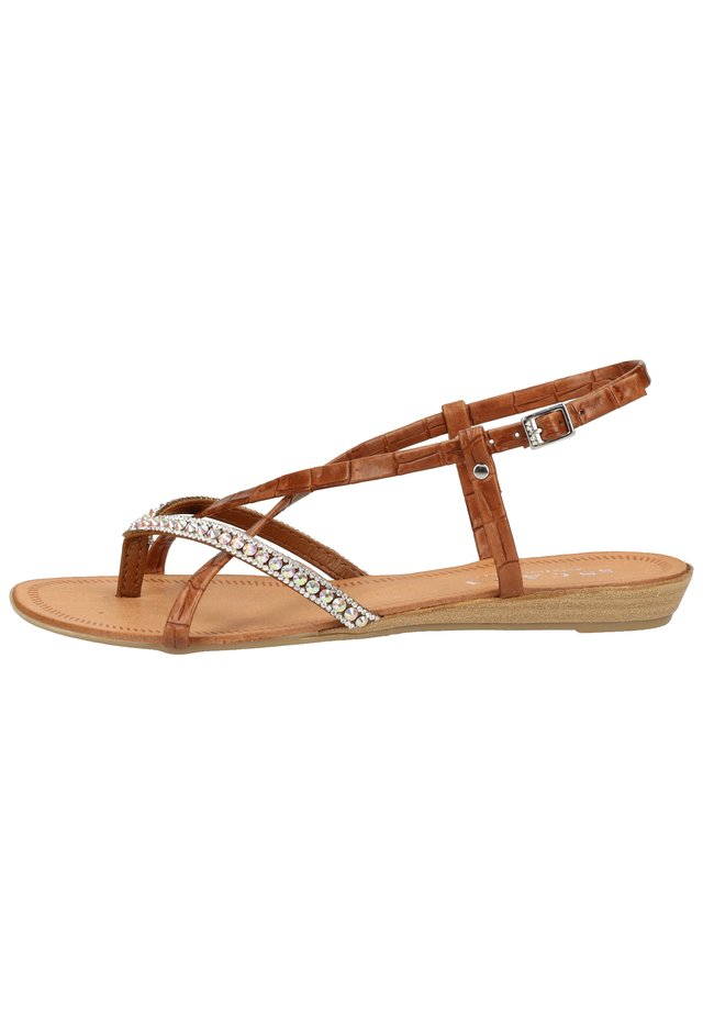 SCAPA ZEHENSTEG - Sandals - brown