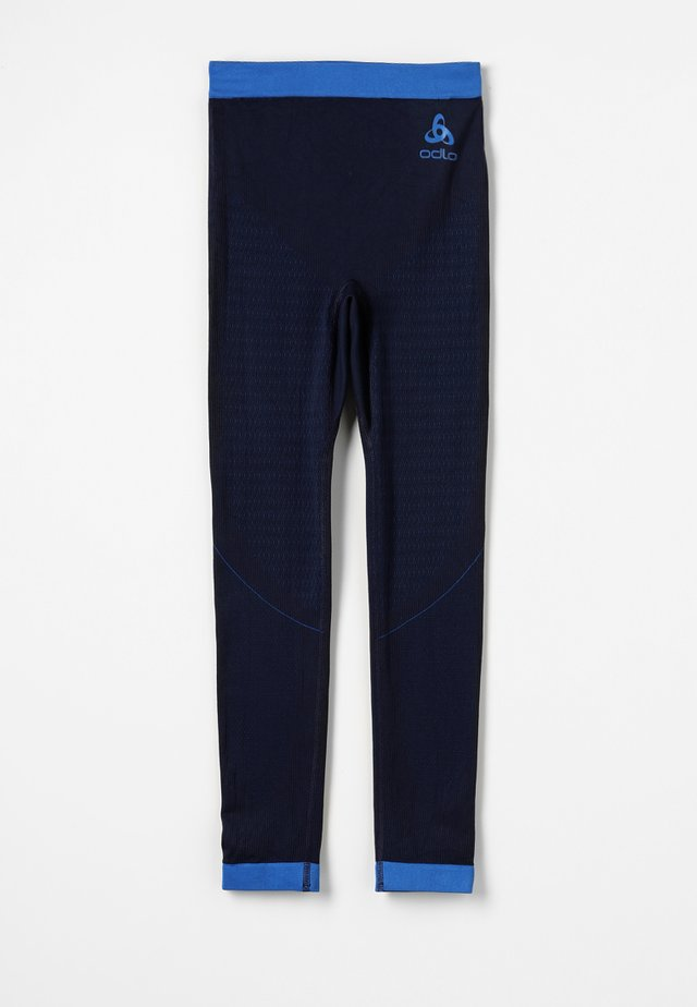 BOTTOM PANT PERFORMANCE WARM KIDS - Base layer - diving navy/energy blue