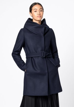 MIT VOLUMENKRAGEN - Classic coat - dunkelblau