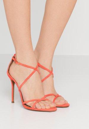 High heeled sandals - poppy