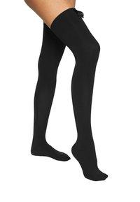 Ann Summers - HIGH SHINE BOW OVER THE KNEE - Over-the-knee socks - black - 1