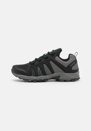 WARRIOR - Hiking shoes - black/military green