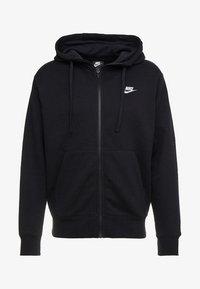 CLUB HOODIE - Zip-up sweatshirt - black/black/white
