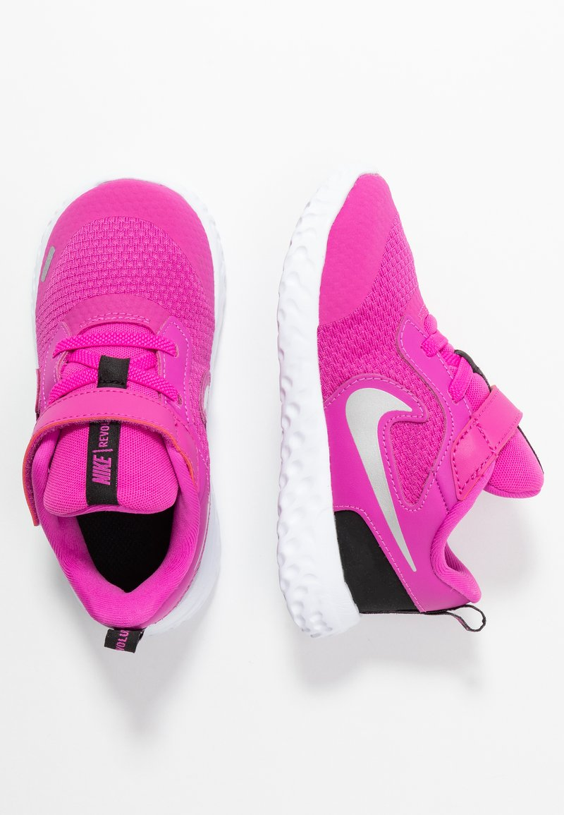 Nike Performance - REVOLUTION 5 UNISEX - Neutral running shoes - active fuchsia/metallic silver/black