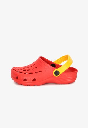 Clogs - red/yellow