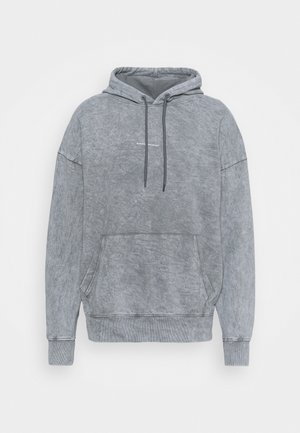 OVERSIZED BRANDED BACK HOOD - Hoodie - grey