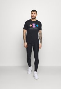 Under Armour - LOCKERTAG  - Print T-shirt - black - 1