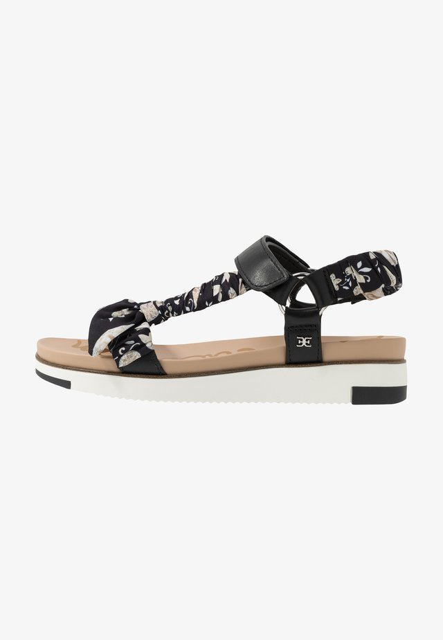 ASHIE - Sandalen met plateauzool - black/multicolor